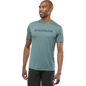 Salomon Agile Graphic Camiseta Hombre, green gab